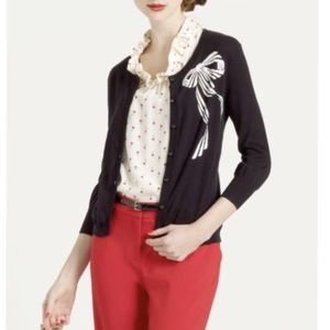 Kate Spade intarsia bow cardigan button up sweater